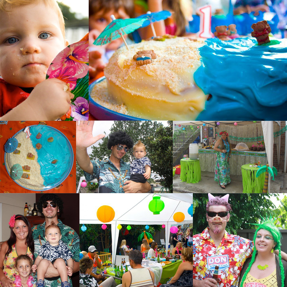 Cael's First Birthday - Hawaiian themed party