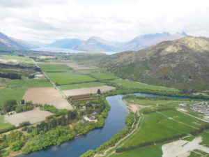 Aerial shot from helicopter Queenstown Photography