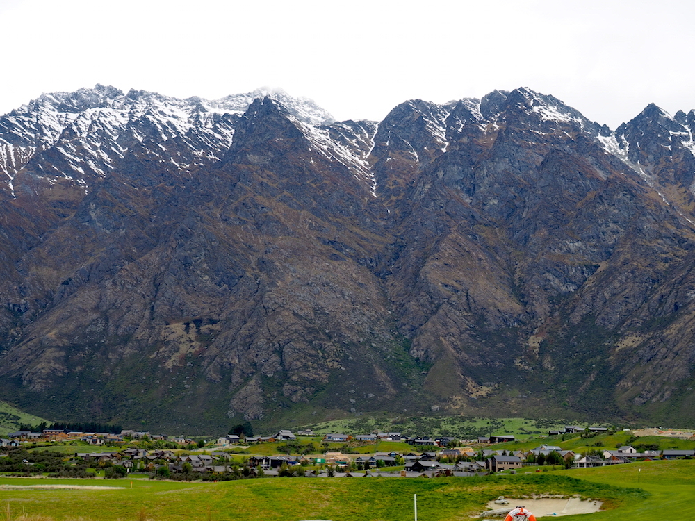 Small town at base of remarkables Queenstown Photography