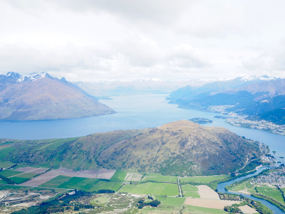 Ariel shot from helicopter Queenstown Photography